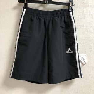 アディダス(adidas)のアディダス ハーフパンツ ダークグレー 150 白ライン入り(パンツ/スパッツ)