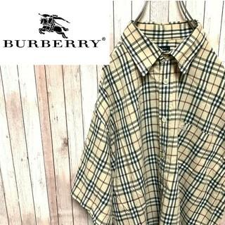 バーバリー(BURBERRY)のバーバリーロンドン  ノバチェックシャツ  ワンポイント刺繍ロゴ(シャツ)