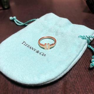 ティファニー(Tiffany & Co.)のTiffany Tワイヤーリング #7 ピンクゴールド ティファニー(リング(指輪))