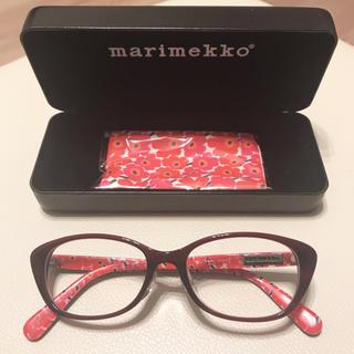 マリメッコ(marimekko)のマリメッコ HOYA UVレンズ入り キャロライン marimekko 眼鏡 赤(サングラス/メガネ)