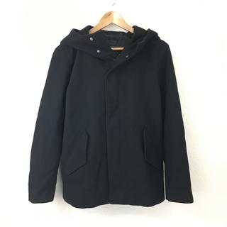ユニクロ(UNIQLO)のユニクロ UNIQLO シンプル フード付き ジャケット 黒 サイズ M(その他)