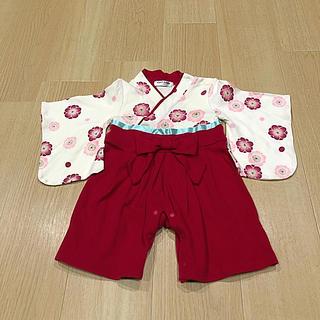 bec7cb5f01a57 ベルメゾン(ベルメゾン)の袴ロンパース70☆美品(和服 着物)