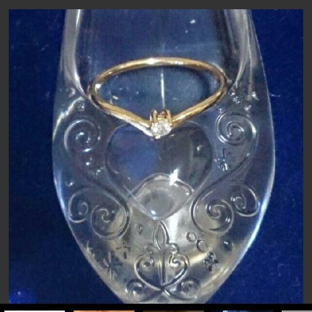 K18 ピンキーリング1号 小粒ダイヤ レディースのアクセサリー(リング(指輪))の商品写真