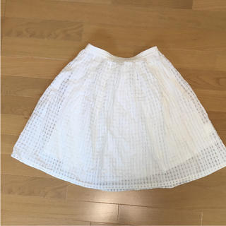 バビロン(BABYLONE)の【バビロン】透けチェックスカート チュールスカート Sサイズ(ひざ丈スカート)