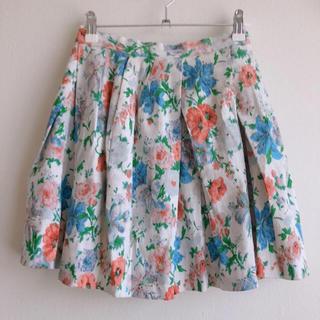ダズリン(dazzlin)のdazzlin 膝丈 花柄スカート(ひざ丈スカート)