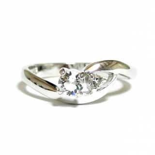 5号 スワロフスキー ピンキー シルバーリング(リング(指輪))