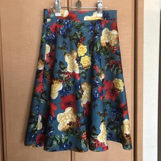 ドリーモリー(Dolly&Molly)の花柄 スカート(ひざ丈スカート)