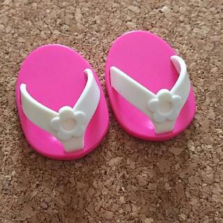 PILOT - メルちゃん 白い花×ピンクのサンダル 靴 レミン&ソラン