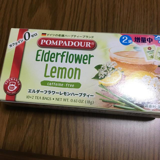 POMPADOUR(ポンパドール)のエルダーフラワーレモンハーブティー9袋 食品/飲料/酒の飲料(茶)の商品写真