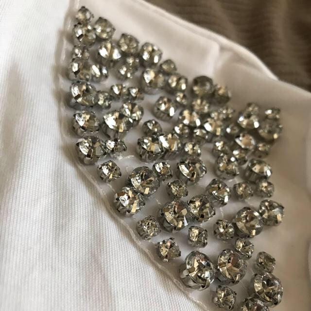 ZARA(ザラ)のZARA 半袖 Tシャツ ビジュー レディースのトップス(Tシャツ(半袖/袖なし))の商品写真