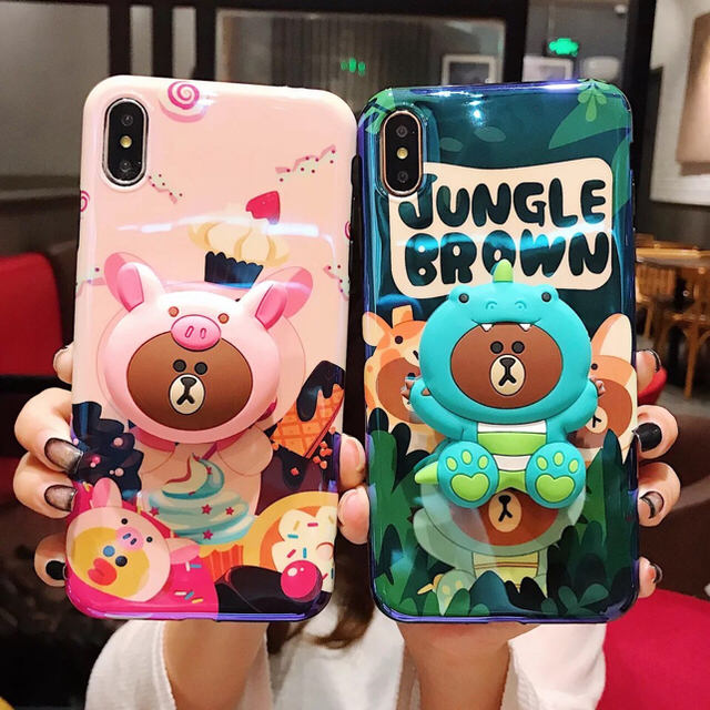 ☆iPhoneXS/XR/xMAX☆可愛い くまさん iPhoneケースの通販 by ブラウン's shop|ラクマ