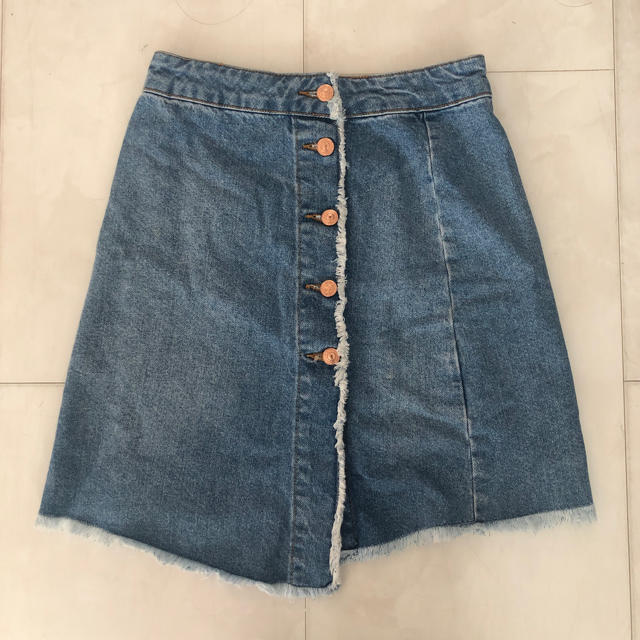 ZARA(ザラ)のZARAアシンメトリーデニムスカートxs レディースのスカート(ミニスカート)の商品写真