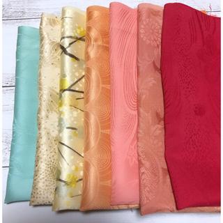 【のりちゃん8229様専用】正絹 和布 古布 はぎれ 7枚 手染め正絹 13枚(生地/糸)