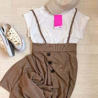 しまむら - 【新品★タグ付き】②点set  しまむら 2pink Tシャツ&ワイドパンツ