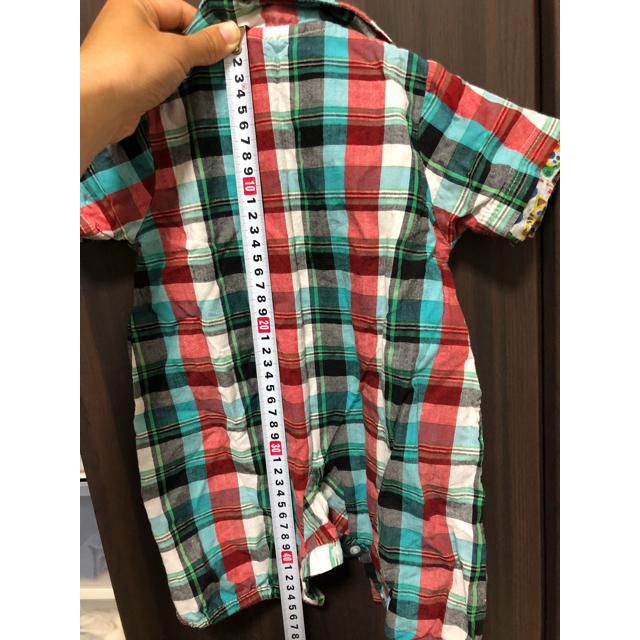 しまむら(シマムラ)の夏用 ロンパース キッズ/ベビー/マタニティのベビー服(~85cm)(ロンパース)の商品写真