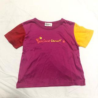 サンローラン(Saint Laurent)のyves saint laurent イヴサンローラン キッズ ピンク Tシャツ(Tシャツ/カットソー)