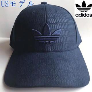 アディダス(adidas)のレア【新品】adidas USA レザー調キャップ ネイビー(キャップ)