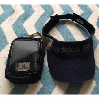 アディダス(adidas)のゴルフ用品 サンバイザー ポーチ セット(その他)