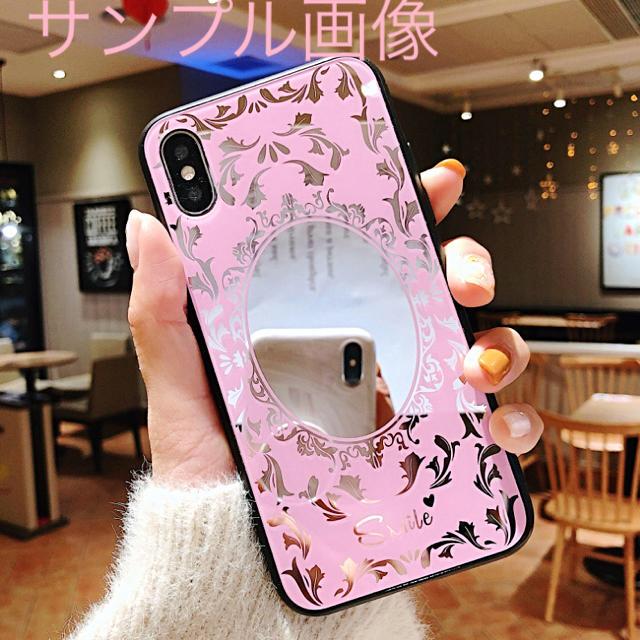 アイフォンXR iPhoneXRソフトケース☆ピンク☆鏡☆ミラー☆送料無料の通販 by ロゴ's shop|ラクマ