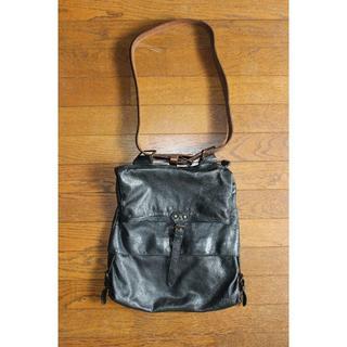 マルタンマルジェラ(Maison Martin Margiela)のメゾンマルジェラ 11 本革レザーショルダーバッグ 黒 ブラック メンズ(ショルダーバッグ)