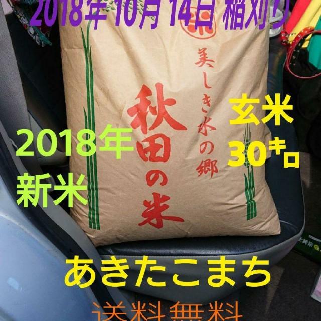 あきたこまち 送料込み 食品/飲料/酒の食品(米/穀物)の商品写真
