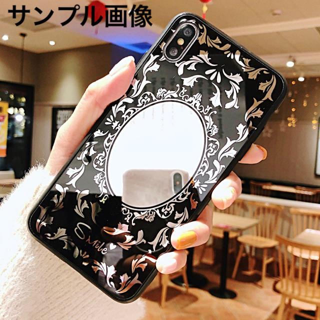 iphone7 ケース オリジナル 、 アイフォンXR iPhoneXRソフトケース☆鏡☆ミラー☆ブラック☆送料無料の通販 by ロゴ's shop|ラクマ