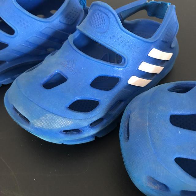 adidas(アディダス)の14㎝&16㎝♪ アディダス クロックス風サンダル 兄弟お揃い^_^ キッズ/ベビー/マタニティのベビー靴/シューズ(~14cm)(サンダル)の商品写真