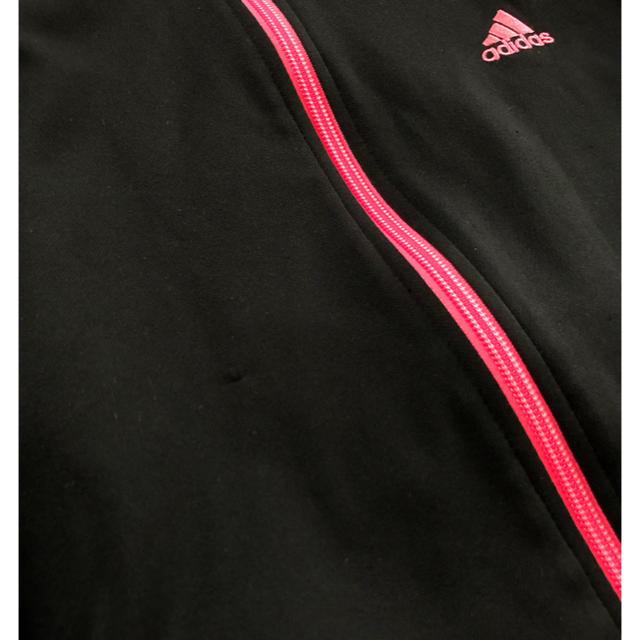 adidas(アディダス)の★adidas★ピンクラインジャージパーカー/M スポーツ/アウトドアのランニング(ウェア)の商品写真