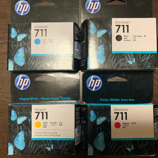 ヒューレットパッカード(HP)のHP T120/T520用 711インクカートリッジ4色5SET(オフィス用品一般)
