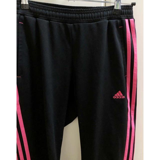 adidas(アディダス)の★adidas★ピンクラインジャージパンツ/M スポーツ/アウトドアのランニング(ウェア)の商品写真