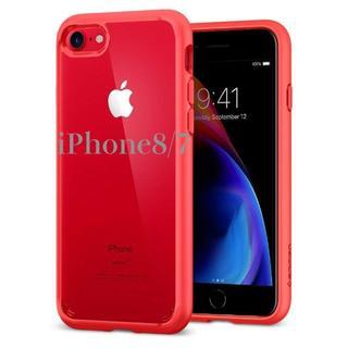 シュピゲン(Spigen)の米国ブランド iPhone8/7 ケース ウルトラハイブリッド/レッド(iPhoneケース)