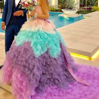 カラードレス ウエディングドレス(ウェディングドレス)