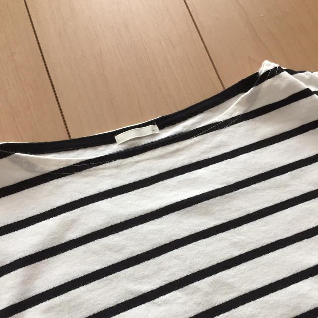 GU(ジーユー)のGU ボーダーカットソー  レディースのトップス(カットソー(半袖/袖なし))の商品写真