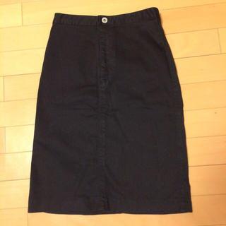 プーラフリーム(pour la frime)のタイトスカート、ブラック(ひざ丈スカート)