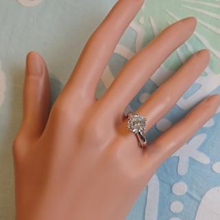 シルバー950? ファッション リング 3.00ct クリアストーン(リング(指輪))