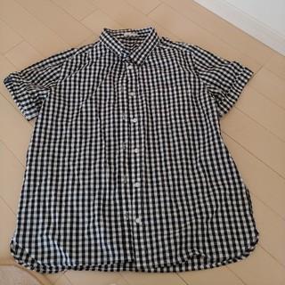 ジーユー(GU)の半袖ロールアップシャツ(ギンガム)(シャツ/ブラウス(半袖/袖なし))