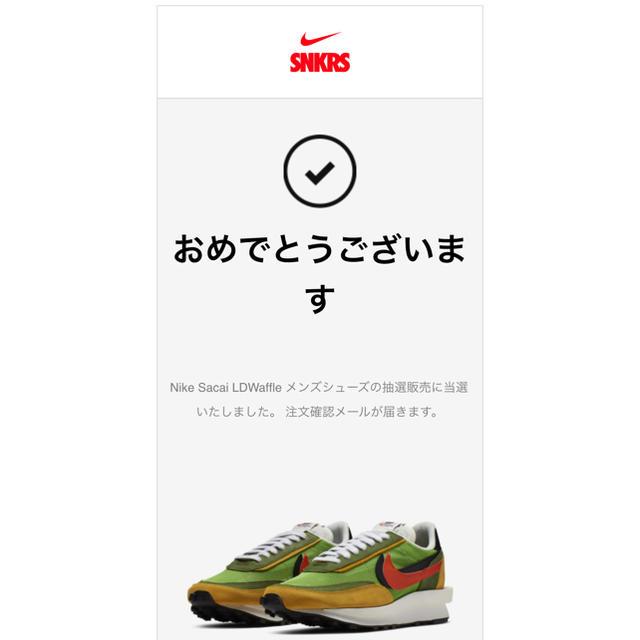 NIKE(ナイキ)の専用 LD ワッフル SACAI 28.5 メンズの靴/シューズ(スニーカー)の商品写真