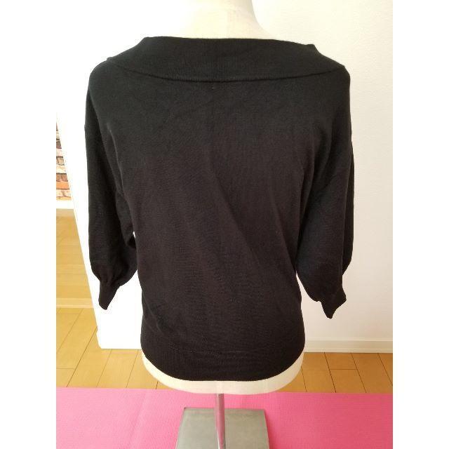 GU(ジーユー)の♪USED GUニットカットソー ブラック Lサイズ♪ レディースのトップス(ニット/セーター)の商品写真