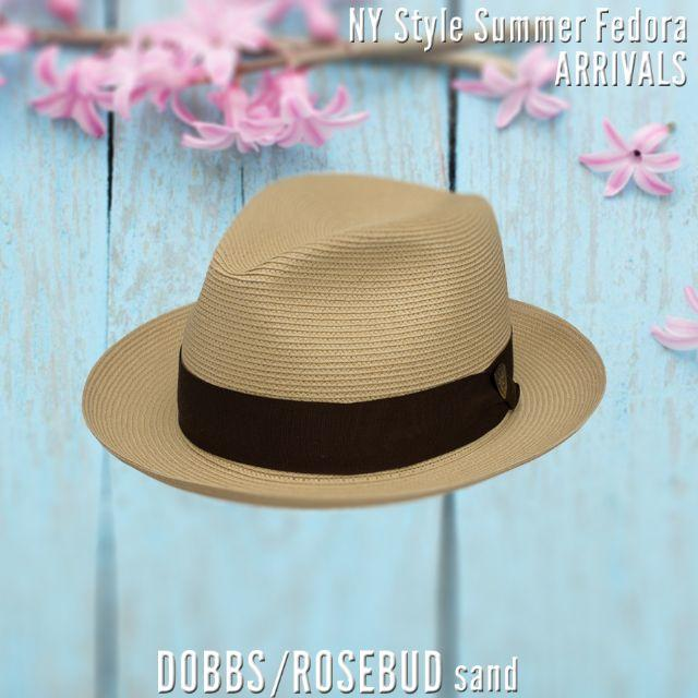 Borsalino(ボルサリーノ)のdobbs★ドブズ・ローズバッド・サンド【ミランストロー】58CM メンズの帽子(ハット)の商品写真