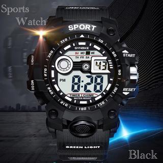 スポーツ腕時計 LED デジタル 腕時計 ミリタリー 耐久性 スポーツ  黒(腕時計(デジタル))