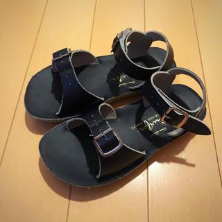 キャラメルベビー&チャイルド(Caramel baby&child )のSalt Water Sandals ソルトウォーター ネイビー サイズ10(サンダル)