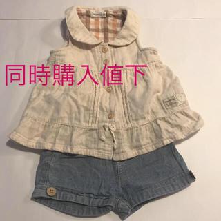 ビケット(Biquette)のビケット Biquette チュニック ショートパンツセット 80 女の子 春(Tシャツ)
