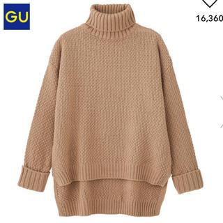 ジーユー(GU)のステップドヘムセーター(長袖)(ニット/セーター)