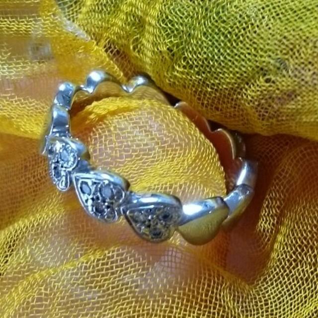 STAR JEWELRY(スタージュエリー)のピンキーリング、ハートとダイヤモンドStar レディースのアクセサリー(リング(指輪))の商品写真
