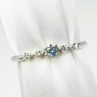 runanoa様専用 fancy blue ブルーダイヤモンド ptリング 天然(リング(指輪))
