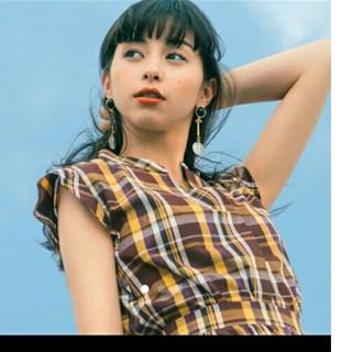 ジーユー(GU)のジーユー マドラスチェックシャツ(シャツ/ブラウス(半袖/袖なし))