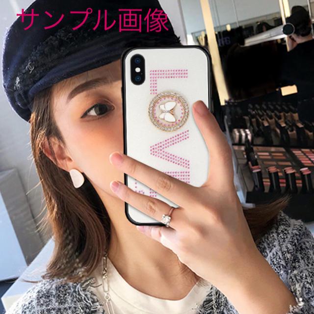 アイフォンXR iPhoneXRケース☆ラインストーン☆ピンク☆LOVE☆の通販 by ロゴ's shop|ラクマ