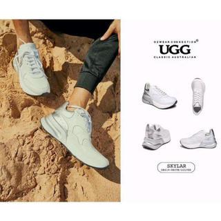 アグ(UGG)の2019年新発売美品UGG OZWEAR OB419 紳士本革スニーカー (ローファー/革靴)