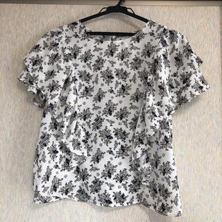 ジーユー(GU)のジーユー 花柄 ブラウス(シャツ/ブラウス(半袖/袖なし))
