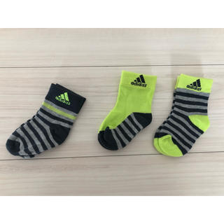 アディダス(adidas)の【未使用】adidas キッズ靴下 3足セット(靴下/タイツ)